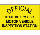 Official State of New York Motor Vehicle Inspection Station